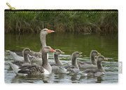 Greylag Goose Anser Anser Couple Carry-all Pouch