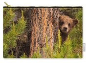 Grizzly Bear Cub Up A Tree, Yukon Carry-all Pouch