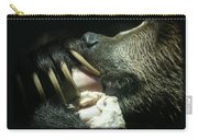 Grizzly Eating Carry-all Pouch