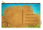 Grunge Color On Old Postcard Carry-all Pouch by Setsiri Silapasuwanchai
