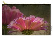 Grungey Pink Zinnia Delight Carry-all Pouch