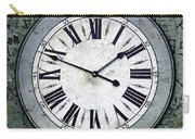 Grungy Clock Carry-all Pouch by Carlos Caetano