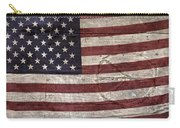 Grungy Textured Usa Peace Sign Flag Carry-all Pouch