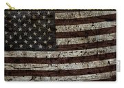 Grungy Wooden Textured Usa Flag2 Carry-all Pouch