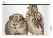 Guinea Pig And Kestrel Chick Carry-all Pouch