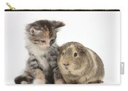 Guinea Pig And Maine Coon-cross Kitten Carry-all Pouch