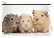 Guinea Pigs And Hamster Carry-all Pouch