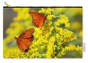Gulf Fritilaries On Golden Rod Carry-all Pouch
