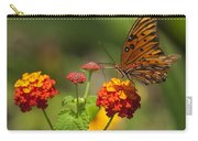 Gulf Fritillary Butterfly On Colorful Lantana  Carry-all Pouch