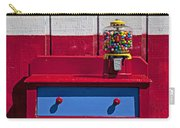 Gum Ball Machine On Red Desk Carry-all Pouch
