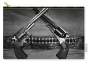 Guns In Black And White Carry-all Pouch