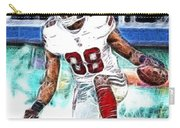 Hakeem Nicks - Sports - Football Carry-all Pouch by Paul Ward
