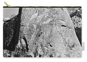 Half Dome Black And White Carry-all Pouch