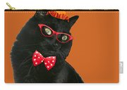 Halloween Card - Black Cat Ready To Party Carry-all Pouch