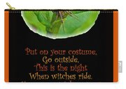 Halloween Card - Spider And Poem Carry-all Pouch