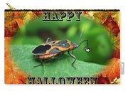 Halloween Greeting Card - Box Elder Bug Carry-all Pouch