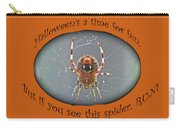 Halloween Greeting Card - Marbled Orb Weaver Spider Carry-all Pouch