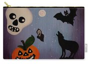Halloween Night Original Acrylic Painting Placemat Carry-all Pouch