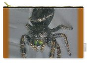 Halloween Party Invitation - Salticid Jumping Spider Carry-all Pouch