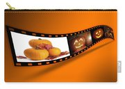 Halloween Pumpkin Film Strip Carry-all Pouch by Amanda Elwell