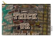 Halloween Trick Or Treat Skeleton Greeting Card Carry-all Pouch