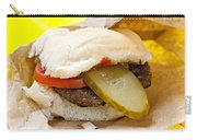 Hamburger With Pickle And Tomato Carry-all Pouch