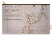 Hand Drawn Map By G. Washington Carry-all Pouch