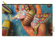 Hand Holding Butterfly Toy Carry-all Pouch