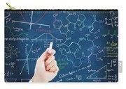 Hand Writing Science Formulas Carry-all Pouch by Setsiri Silapasuwanchai