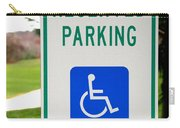 Handicapped Parking Sign Carry-all Pouch by Photo Researchers