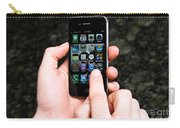 Hands Holding An Iphone Carry-all Pouch