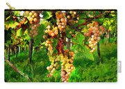 Hanging Grapes On The Vine Carry-all Pouch by Elaine Plesser