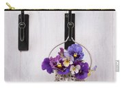 Hanging Pansies Carry-all Pouch