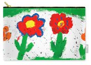Happy Colorful Flowers Carry-all Pouch