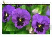 Happy Faces Purple Pansies Carry-all Pouch