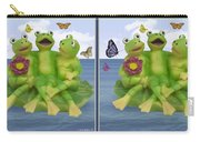 Happy Frogs - Gently Cross Your Eyes And Focus On The Middle Image Carry-all Pouch