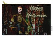 Happy Halloween Skeleton Greeting Card Carry-all Pouch