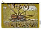 Happy Halloween Spider Greeting Card Carry-all Pouch