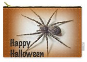 Happy Halloween Spider Greeting Card - Dolomedes Tenebrosus Carry-all Pouch