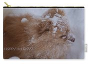 Happy Holidays Christmas Card Carry-all Pouch
