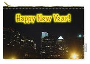 Happy New Year Greeting Card - Philadelphia At Night Carry-all Pouch