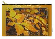 Happy Thanksgiving Beech Leaves Carry-all Pouch