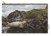 Harbor Seal  Point Lobos State Reserve Carry-all Pouch by Sebastian Kennerknecht