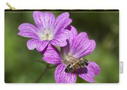 Hardy Geranium And Honey Bee Carry-all Pouch