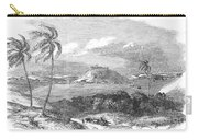 Havana, Cuba, 1851. /na View Of The Harbor And Fort Of Atares. Wood Engraving, English, 1851 Carry-all Pouch