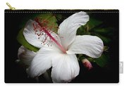 Hawaiian White Hibiscus Carry-all Pouch