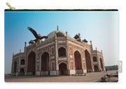 Hawk Flying Next To Humayun Tomb Delhi Carry-all Pouch