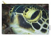 Hawksbill Sea Turtle Portrait Carry-all Pouch