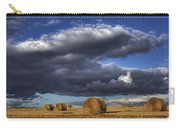 Hay Bales Under Cumulus Clouds Carry-all Pouch