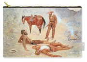 He Lay Where He Had Been Jerked Still As A Log  Carry-all Pouch by Frederic Remington